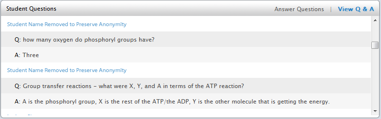 biology answered questions