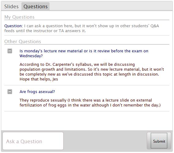 biology student inquiry