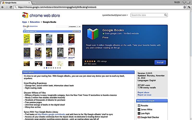 Chrome App Store eBooks