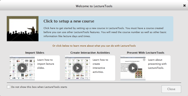 welcome to lecturetools