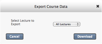 export course data
