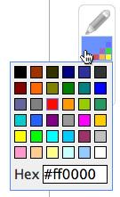 drawing color palette