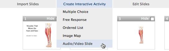 select multimedia slide