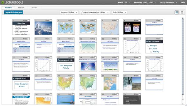 prepare interactive lectures