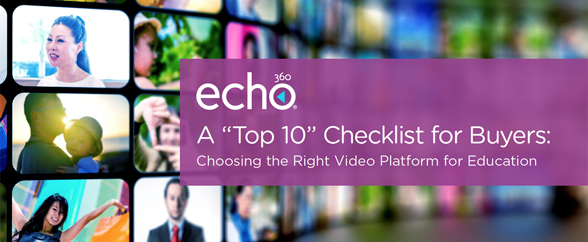 eBook A Top 10 Checklist for Buyers: Choosing the Right Video Platform for Education